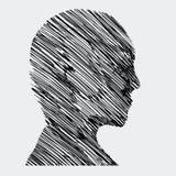 Profilo umano illustrazione di stock