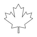 Profilo verde del canadese del segno della foglia di acero immagini stock libere da diritti