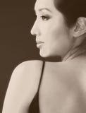 profilowa Azjata kobieta s Obrazy Royalty Free
