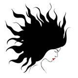 Profilowa sylwetka dziewczyna ilustracja wektor