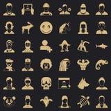 Profilowe ikony ustawiać, prosty styl ilustracja wektor