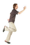 profilowy mężczyzna bieg zdjęcie royalty free