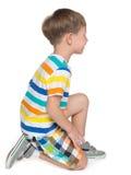 Profilowy portret chłopiec troszkę zdjęcie royalty free