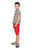 Profilowy portret mod potomstw chłopiec Obraz Stock