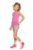 Profilowy portret mody młoda dziewczyna obrazy royalty free