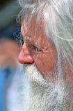Profilowy portret starszy mężczyzna, wąsy i brodę Obrazy Stock