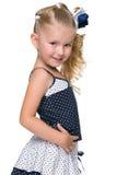 Profilowy portret urocza mała dziewczynka obraz stock