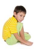 Profilowy portret zadumana chłopiec obraz stock