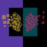 Profils colorés Photo libre de droits