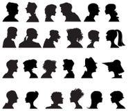 Profils de gens Photographie stock libre de droits