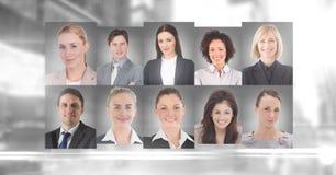 profils de portrait des personnes différentes Photo libre de droits