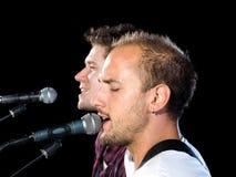 Profils des chanteurs photos libres de droits