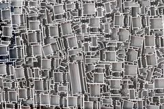 Profils en aluminium image stock