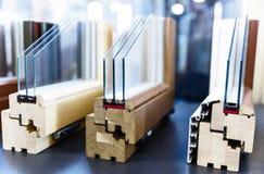 Profils en bois de fenêtre image libre de droits