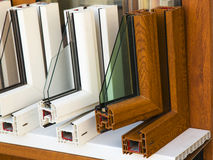 Profils modernes de fenêtres Photographie stock