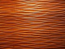 Profils onduleux en bois Images stock