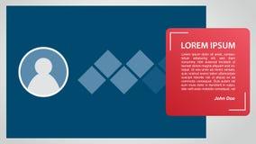 Profilzitat-Fahnenschablone für Druck mit Fotoraum und freiem Raum für Text - Vektorillustration lizenzfreie abbildung
