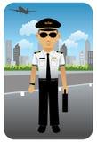 Profissão ajustada: Piloto da linha aérea Fotografia de Stock Royalty Free