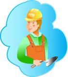 Profissão do construtor das habilidades no fundo azul Imagem de Stock Royalty Free