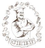 Profissão do cozinheiro chefe ilustração stock