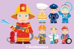 Profissão dos povos da ilustração do ` s das crianças Foto de Stock Royalty Free