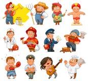 Profissões ilustração royalty free