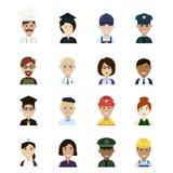 Profissões e Avatar das ocupações Fotografia de Stock Royalty Free