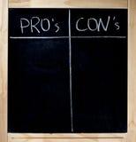 Profissionais - e - contra Imagens de Stock