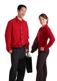 Profissionais novos no vermelho Fotografia de Stock
