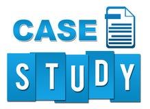 Profissional azul do estudo de caso com símbolo ilustração do vetor