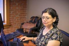 Profissional fêmea Carreira-ocupado no trabalho Imagem de Stock