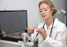 Profissional médico fêmea fotos de stock royalty free