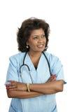 Profissional médico - pensativo Imagens de Stock Royalty Free