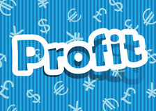 Profit. Vector profit; realistic cut, takes the background color Royalty Free Stock Images