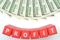 Profit. Abstract profit with us one hundred dollar background stock images