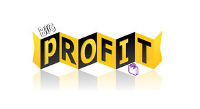 Profit. Big profit on white background Royalty Free Stock Photos