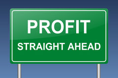 Profit ahead Stock Photography