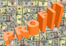 Profit with American dollars Royalty Free Stock Image