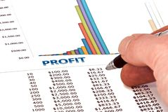 Profit Analysis Stock Photo
