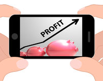 Profit Arrow Displays Sales And Earnings Projection Stock Photos