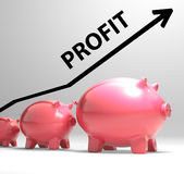 Profit Arrow Shows Sales And Earnings Projection Royalty Free Stock Images