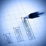 Profit bar chart Royalty Free Stock Photos
