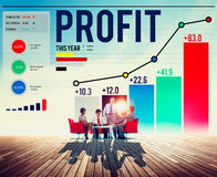 Profit Benefit Financial Income Growth Concept. Business Profit Benefit Financial Income Growth Concept Royalty Free Stock Photo