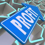 Profit blue arrow Stock Photo