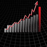 Profit in business graph Stock Photo