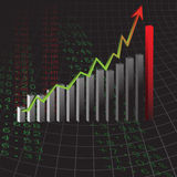 Profit in business graph Royalty Free Stock Photography