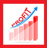 Profit business graph Stock Image