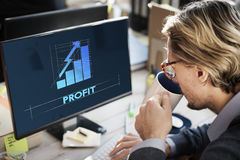 Profit Business Growth Graph Graphic Concept Royalty Free Stock Photos