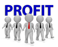Profit Businessmen Shows Lucrative Growth And Earning 3d Rendering Royalty Free Stock Image