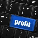 Profit button on computer keyboard Stock Photo